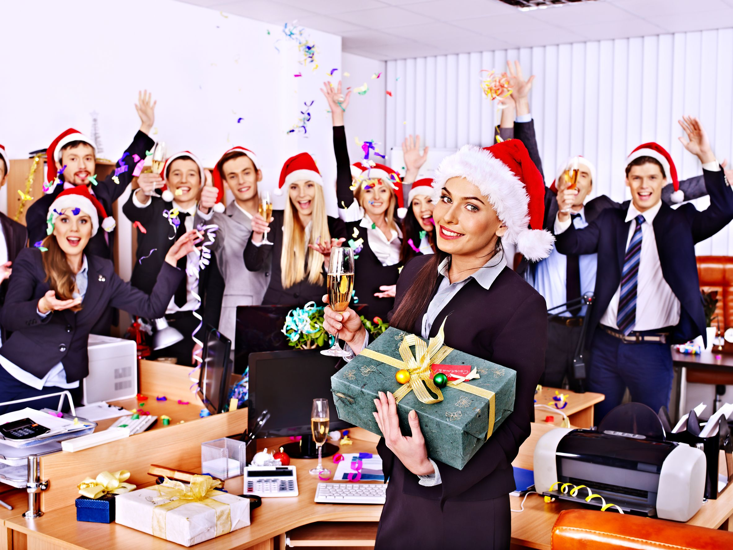 holiday season helpers stress relief career intelligence office holiday party